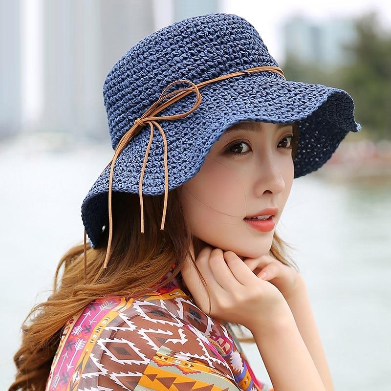 Princess Sweet Straw Hat Vuxen Mjuk Straw Sun Cap Flickor Beach Sun - Kläder tillbehör - Foto 1