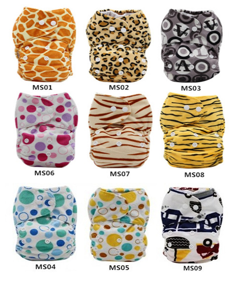 Baby NAPPIES Newborn Adjustable Washable NAPPY COVER Reusable Nappies Baby Short Plush Cloth Diapers  NB028