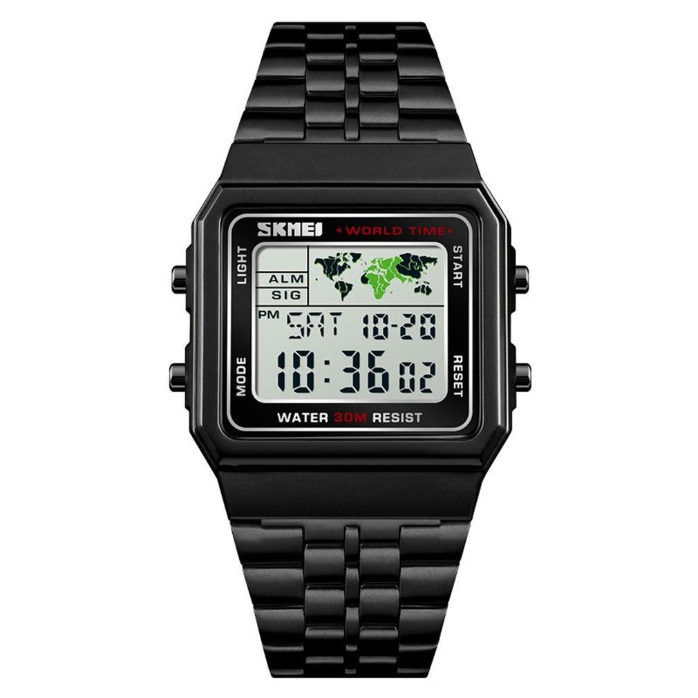 SKMEI Watch Electronic-Watch Retro Square Fashion Nostalgic-Style Creative-Design Simple
