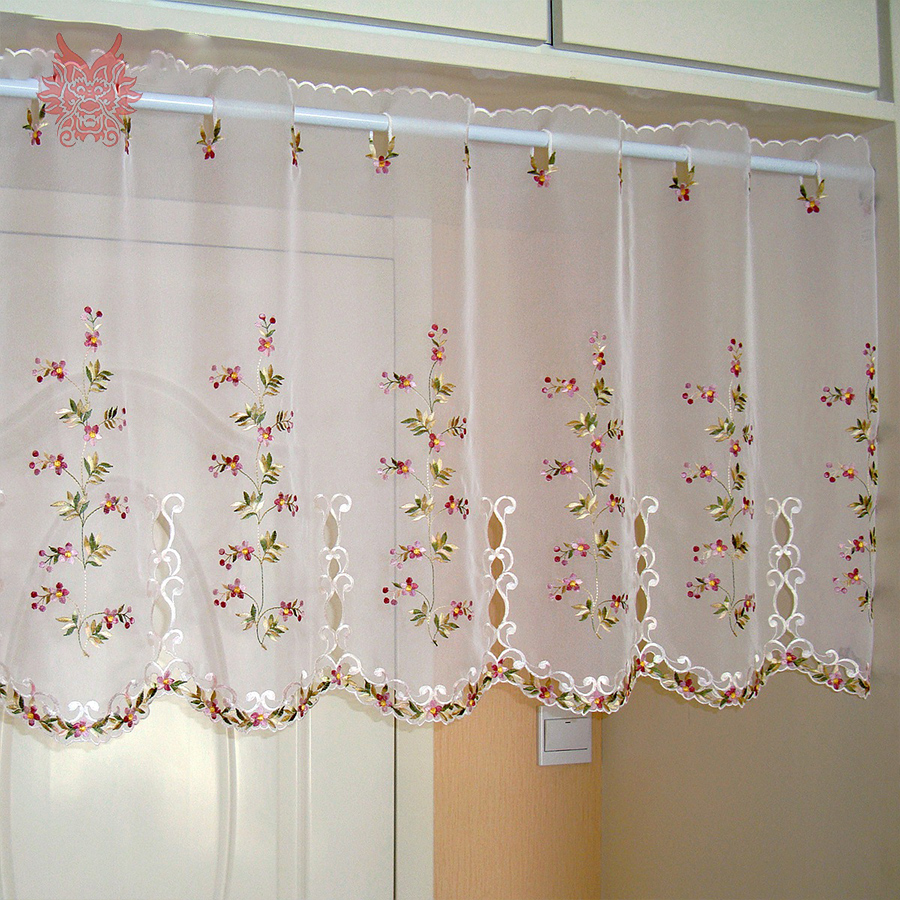 3 Piece Faux Cotton Espresso Brown Kitchen Window Curtain: Online Get Cheap Polyester Lace Curtains -Aliexpress.com