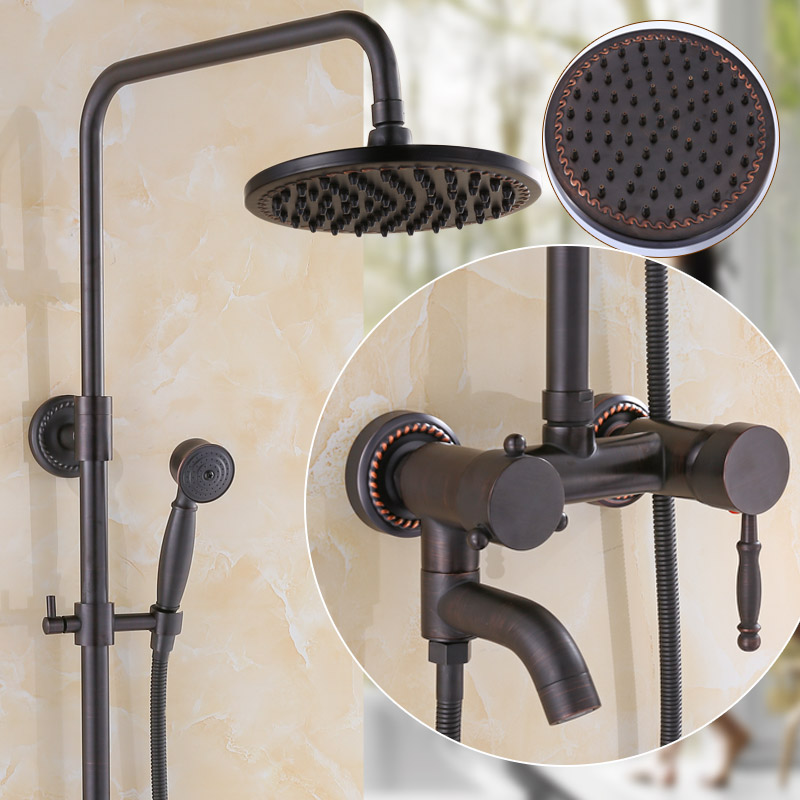 Antique European Hotel Villa with bronze shower suite with a full brass faucet shower hose Sanitary products
