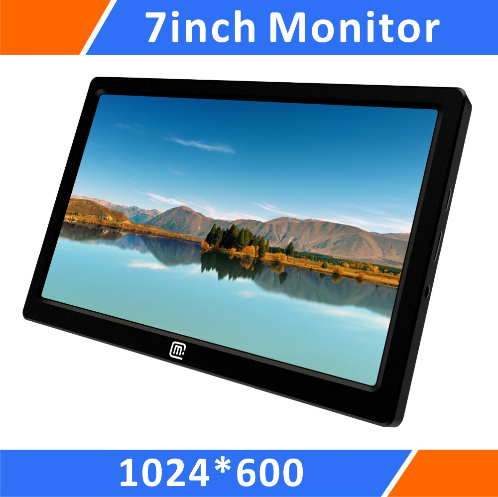 7 Inch Protable  Monitor IPS 1024 * 600  Full HD  (16: 10) HDMI /USB Power Input /Ultra Thin /Light Weight /Built-In Shell viltrox dc 70pro 4k 7 inches ips screen field video monitor 1080p full hd 1920x1200 support 4k input hdmi for dslr camera