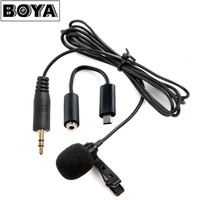 BOYA BY LM20 Lavalier Clip On Omnidirectional Condenser Microphone For GoPro HERO3 HERO3 HERO4 Black White