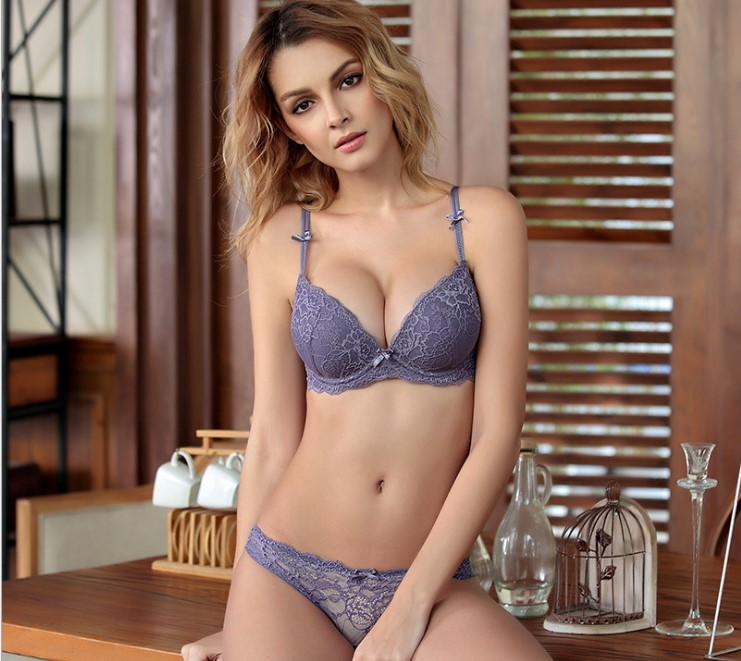 <font><b>European</b></font> <font><b>Style</b></font> Brand <font><b>bra</b></font> and panties adjustable push up <font><b>lace</b></font> <font><b>thin</b></font> thick women's <font><b>sexy</b></font> underwear bow <font><b>bra</b></font> <font><b>set</b></font>