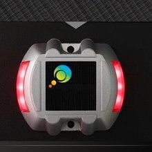 Красный светодиодный светильник устойчивый режим подковы дизайн Алюминиевый Солнечный Дорожный Стад