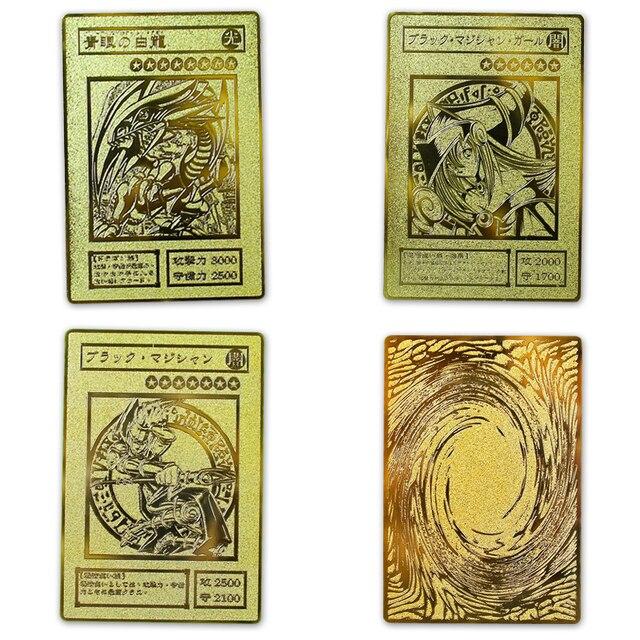 YU GI OH Золотая карта металлическая карта местный японский Золотой глаз белый дракон VOL издание коллекция карта детская игрушка подарок