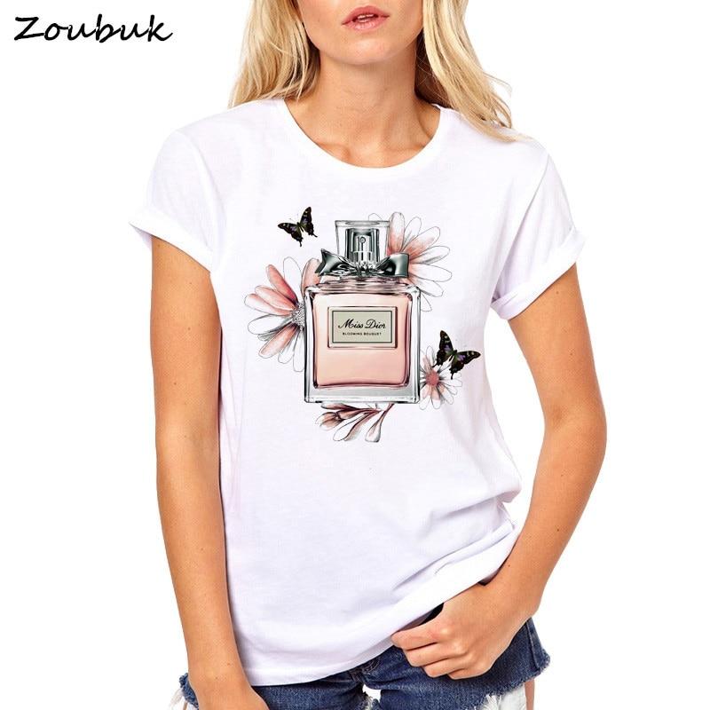 2018 verano Mujer camiseta de dama Casual Top camisetas de moda camiseta marca TV show F. R. I. E. N. D. S camiseta 90 pivote amigos ropa de la flor de las mujeres Perfume impreso camisetas