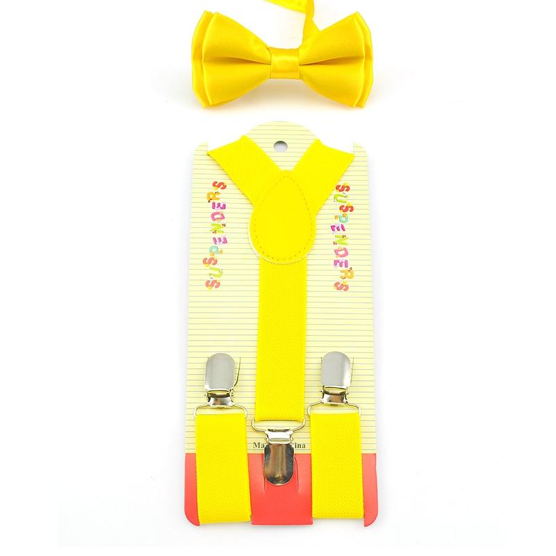 Hot ! Elastic & Bow Tie Suspenders Set Y-Shape Braces&Butterfly Sets Fashion Kids Children Boys Girls