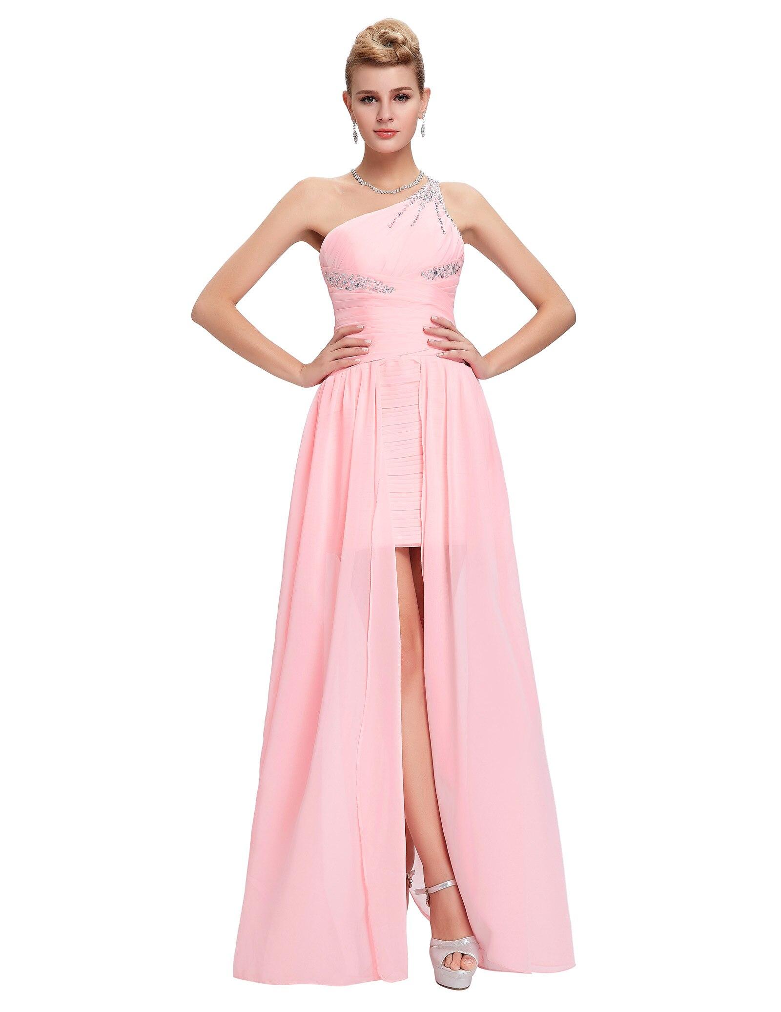 Lujoso Vestido Alto Bajo Del Baile De Rosa Colección de Imágenes ...