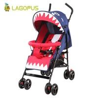 lagopus Baby Stroller Folding Four Wheels Lightweight Carriage Baby Prams for Kids Newborns Baby Pushchair