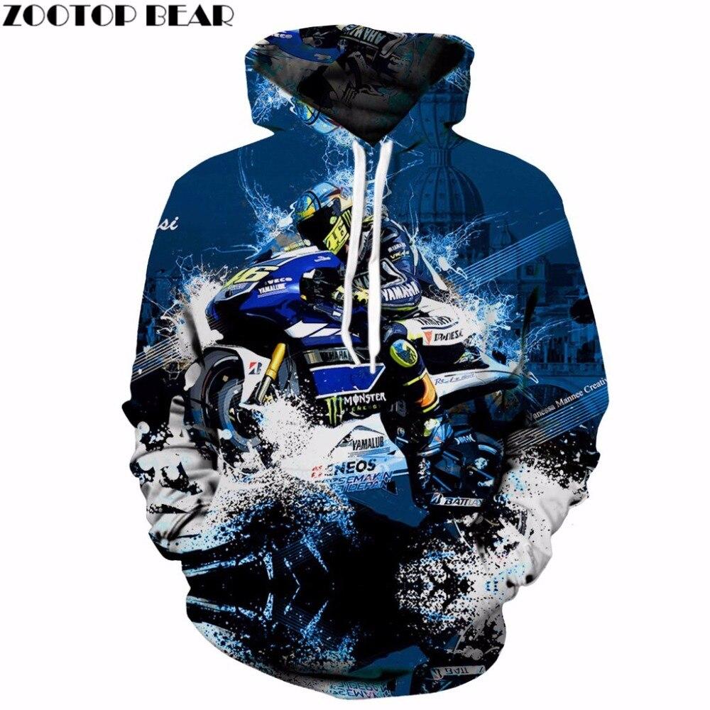 Motorcycle West Coast Off-Road Motorcyclist For YAMAHA 3D Print Hoodies Men Women Summer Passion XXXTENTCAION Sweatshirts S-6XL