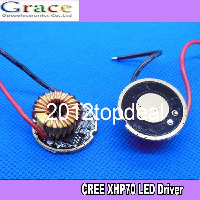2pcs 5 Mode Cree XLamp XHP70 LED Driver 6V 4.8A 32mm Diameter