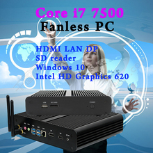 7th Gen Intel Core i7 7500U Mini pc antennas Max 3.5GHz Mini PC 4K Windows 10 ini computer Intel HD Graphics 620