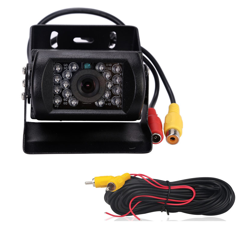 170 grados ir visión nocturna impermeable cámara de visión trasera para bus camión 24 V auto car styling aparcamiento Xenon con líneas de estacionamiento