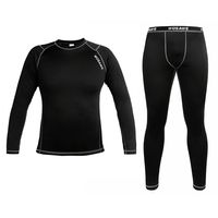 WOSAWE Mens Thermal underwear long johns Compression Base Layer Sport Cycling Bicycle bike Under Wear Long Sleeve Shirt