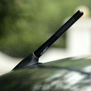 Image 3 - Antena samochodowa styl z włókna węglowego radio fm antena dla Renault Koleos Clio Scenic Megane 2 3 Duster akcesoria samochodowe