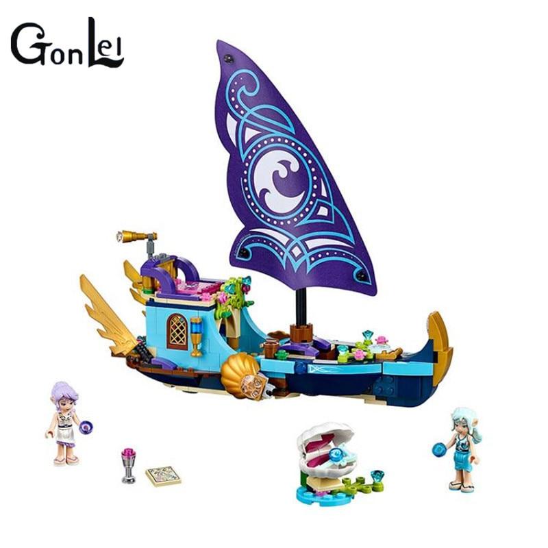 (GonLeI) 10411 Friends Girl Naida Epic Adventure Ships Building Blocks 311pcs Bricks Educational toys Compatible Elves
