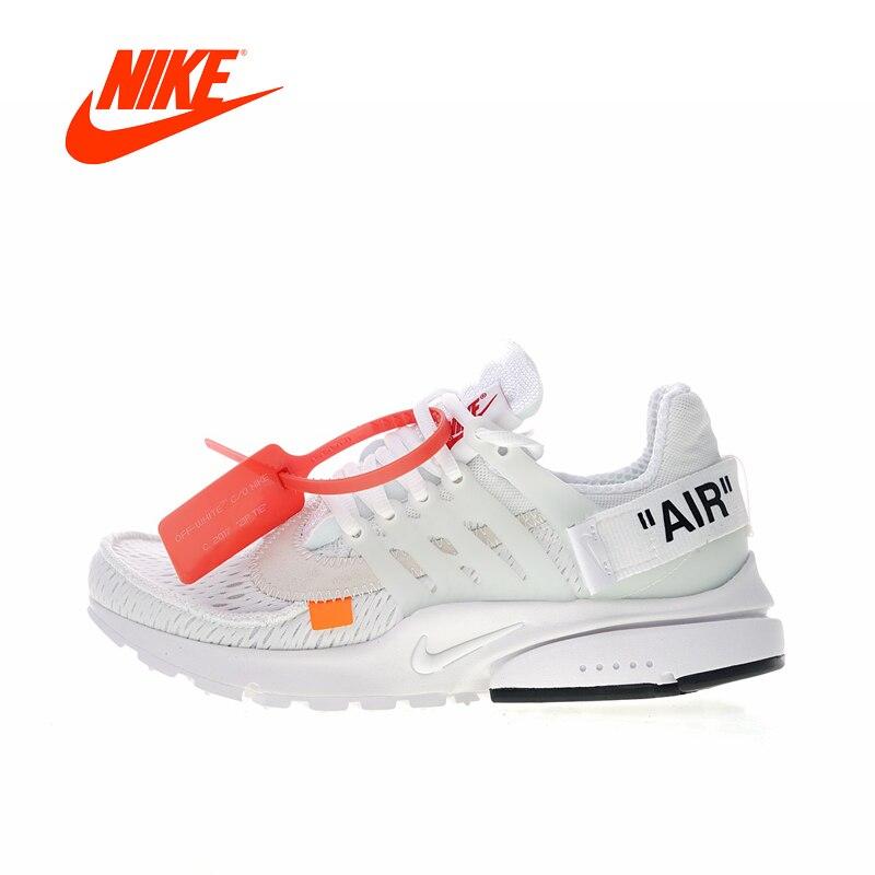 Original Nouvelle Arrivée Authentique Blanc Cassé x Nike Air Presto 2.0 femmes Respirant Chaussures De Course Baskets Bonne Qualité AA3830-100