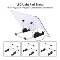New Hot DIY LED Light Board Dimmable Light Stand Clips Mesh Bag Painting Tools for Painting Sketching SMD66