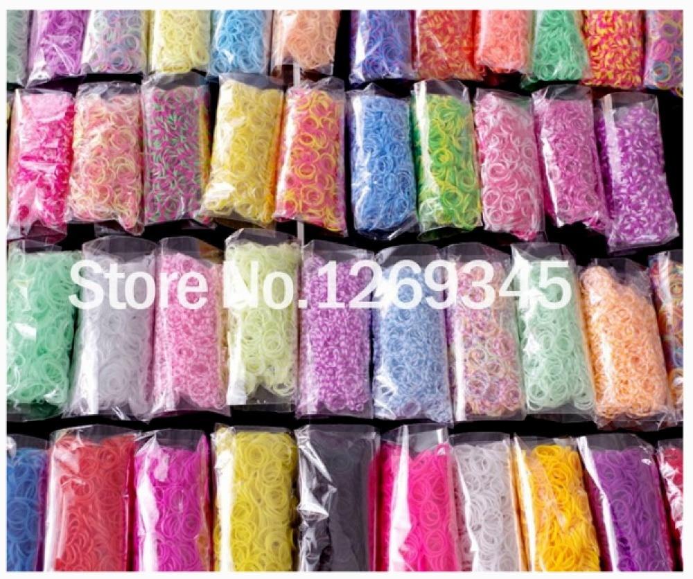 Let's Make 9000/25 Colour Hottest Loom Bands Refills Loom Rubber Bands Rubber Band Loom For DIY BRACELET Bracelet Rubber