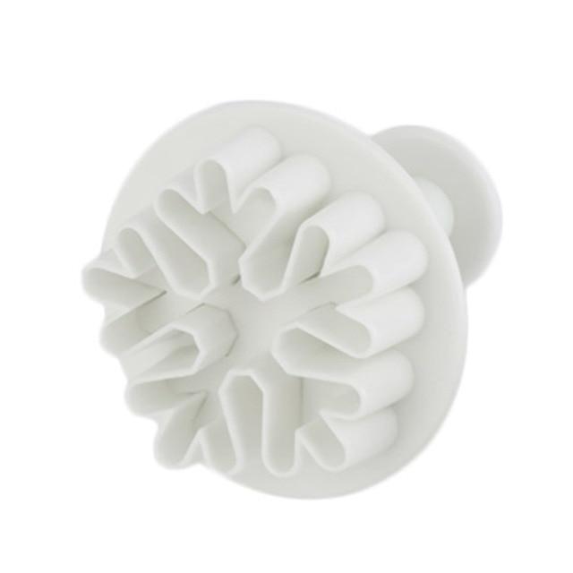 3Pcs Snowflake Fondant Cake Decorating Sugar Cutter Plunger Mold Mould Popular New