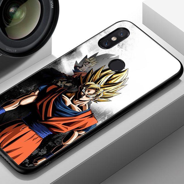 Dragon Ball Z Glass Cover Case for Xiaomi Mi Models