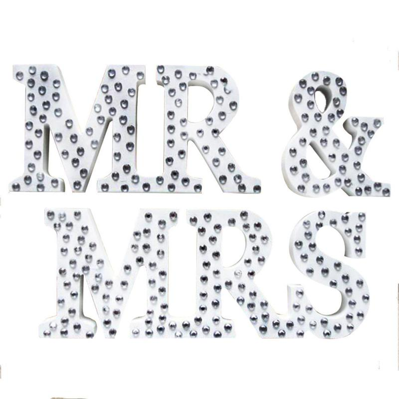 Веселые настольные Алфавит украшения деревянные письмо Mr & Mrs Свадебные Приём знак свадебные туфли со стразами Подставки для фотографий пас...