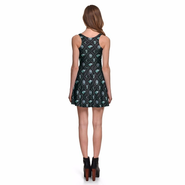Seven Kingdoms Print Dress