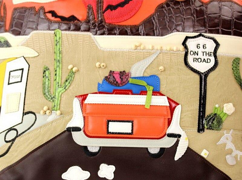 Dessinée Femmes 66 Braccialini Marque Style Route Épaule Messenger À Art Bande De Femme Main Sac Sacs Sj Paysage Artisanat Emballages qUSawdq