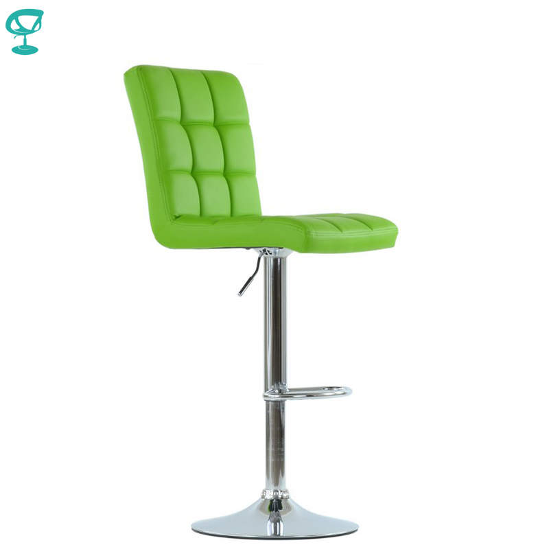 94794 Barneo N-48 Leather Kitchen Breakfast Bar Stool Swivel Bar Chair Light Green Color Free Shipping In Russia