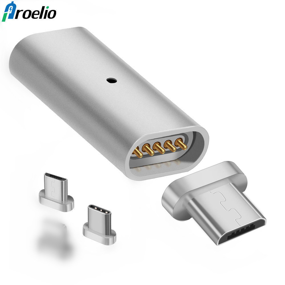 Proelio OTG Micro USB Connector Magnet Adapter Micro USB to Type-C For iPhone Android Micro USB Charger Cable Magnetic Adapter