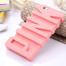 Cyato Cute 3D PINK Letter Case for Apple iphone 7 5.5
