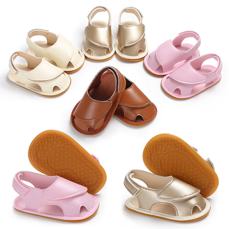 2019 Summer 0-1 Years Old Boys And Girls Baby Rubber Bottom Non-slip Feet Baby Pu Toddler Shoes With A Long Standing Reputation Mother & Kids Baby Shoes