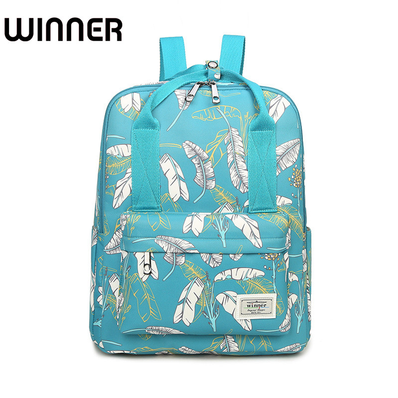 Casual Waterproof Fabric Women Back pack Floral Landscape Printing College Girls Portable Hand Backpack 2015 wholesale back to heaven demon college dxd leah redrawing wire pole dancing editions of hand box