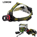 lomon 5w Strong Light Rotate Zoom Rechargeable Hunting Military Brightest Headlamps Available