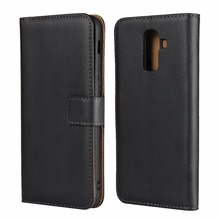For Samsung Galaxy j8 Case 2018 DNGN Luxury Genuine leather wallet case 6.0 Flip Phone