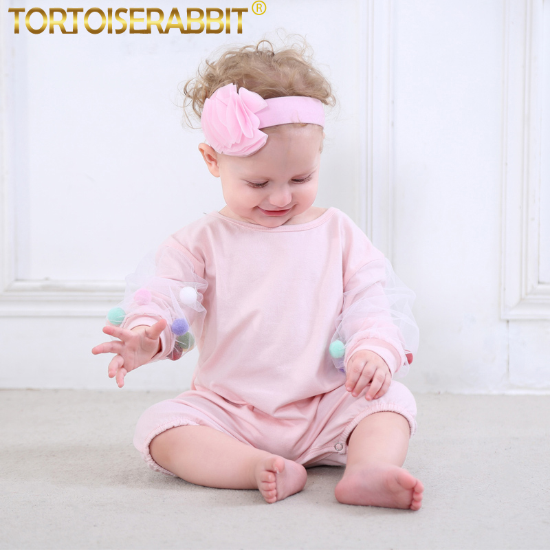 Baby Girls Rompers Organic Cotton Overalls For Children ...