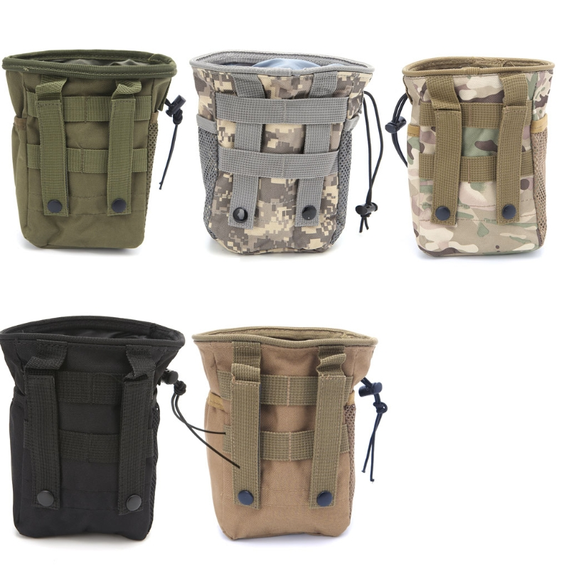 THINKTHENDO Outdooer Utility Pouch Bag Airsoft Military Molle Belt Dump Drop Bag tactical molle dump bag hunting drop magazine pouch drop utility pouch belt bag