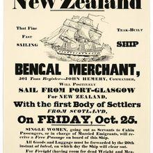 Nueva Zelanda NZ la primera colonia escocesa de viaje pegatinas de pared clásicas lienzo póster vintage de pintura hogar Bar decoración regalo