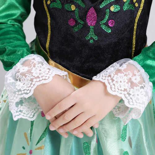 Дисней ЗАМОРОЖЕННОЕ платье disfraz Анна Эльза Принцесса София vestido Рапунцель юрк disfraces Одежда infantil fever elza костюм для детей