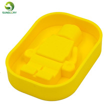 Silicone Robot Ice Mold Cream Tools Color Yellow Tubs Cake