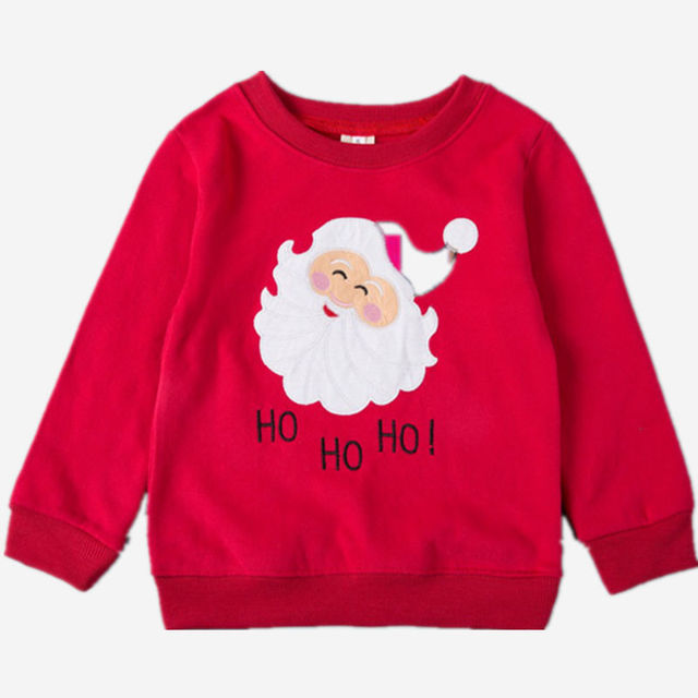 Santa Claus Costume Toddler T-Shirt  8 Colors Kids Boys Girls Fall Winter Long Sleeve Cotton Chirstmas T Shirt Blouse Top 2-7Y