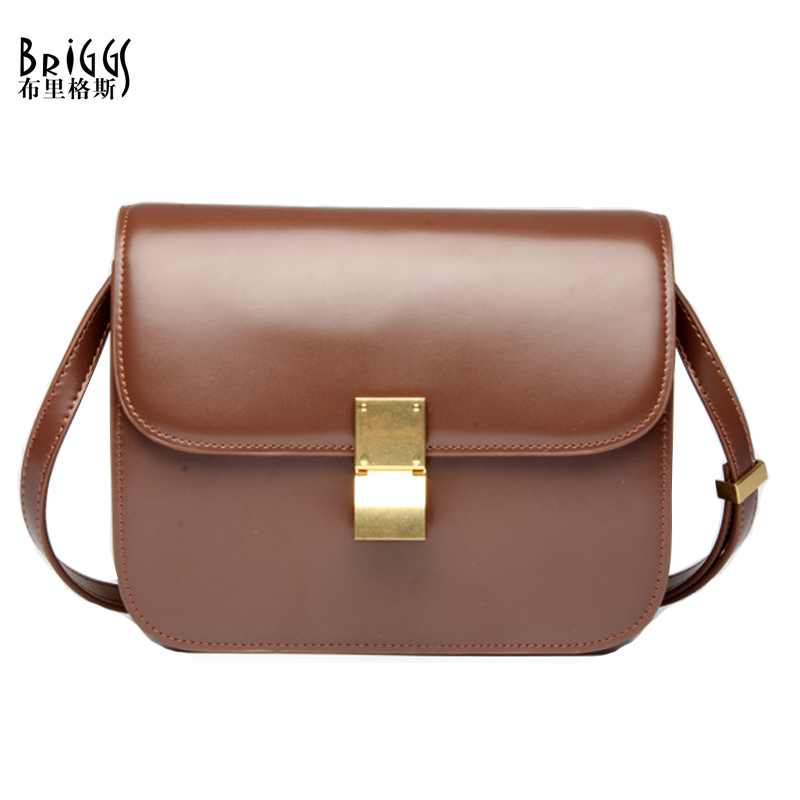 BRIGGS Design High Quality Women Shoulder Bag Real Genuine Leather Small Handbag Vintage Cover Flap Bag Crossbody Bags For Women seintex 82629 для kia sorento