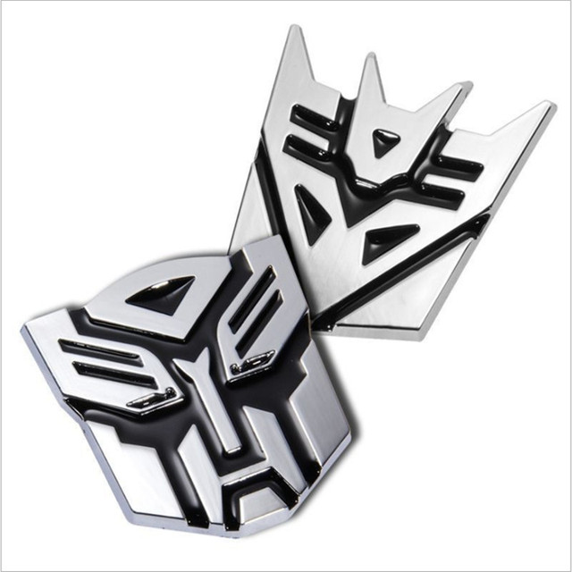 3d Car Sticker Metal Transformers Logo Rear Window Body Decoration