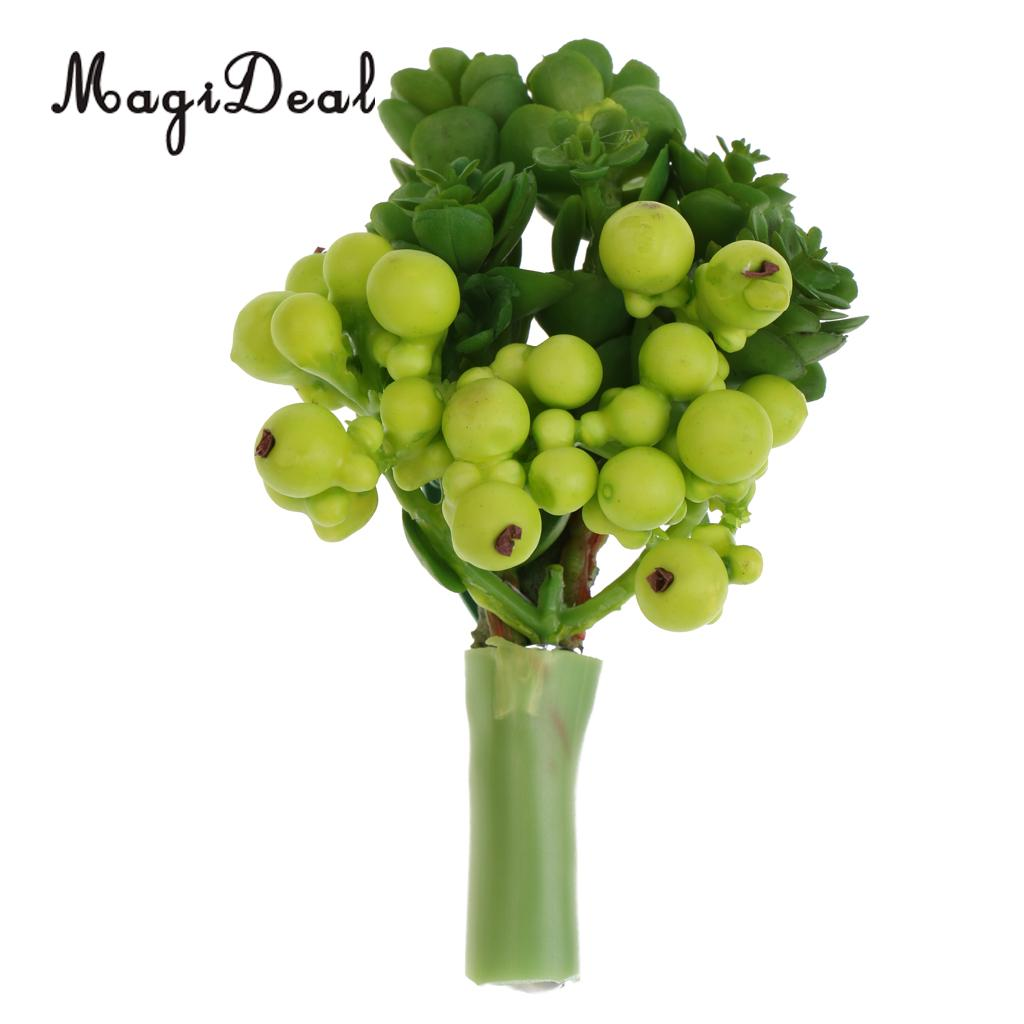 MagiDeal Beautiful Artifical Flower Green Succulent Corsage Boutonniere for Grooms Bride Wedding Ceremony Garden Party Occasion