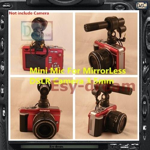 Q3 Mini micro externe stéréo moyen face pour Canon Nikon GH3 DV caméscope PF170