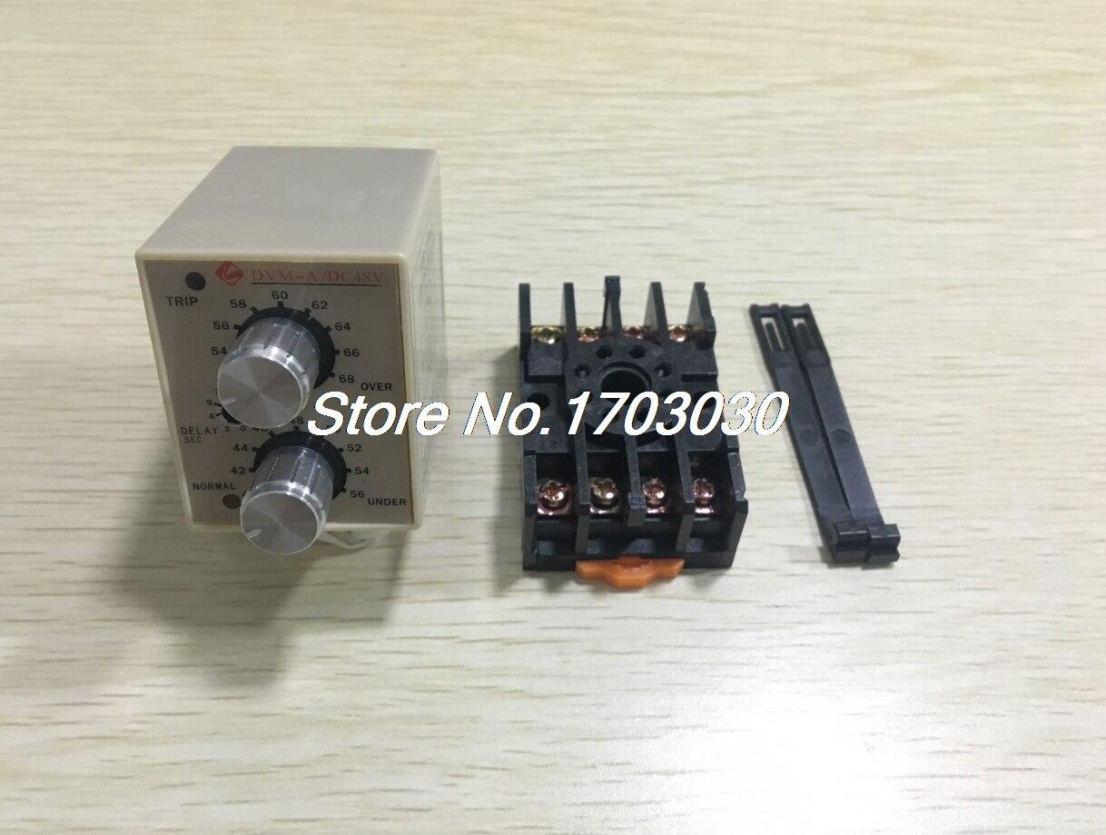 все цены на DVM-A/48V DC 48V Protective Adjustable Over/Under Voltage Monitoring Relay онлайн