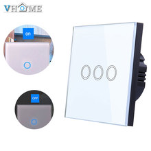 Vhome Smart Remote Touch Switch,RF 433mhz Home Wireless Switch Panel,EV1527 EU/UK Standard Wall panel