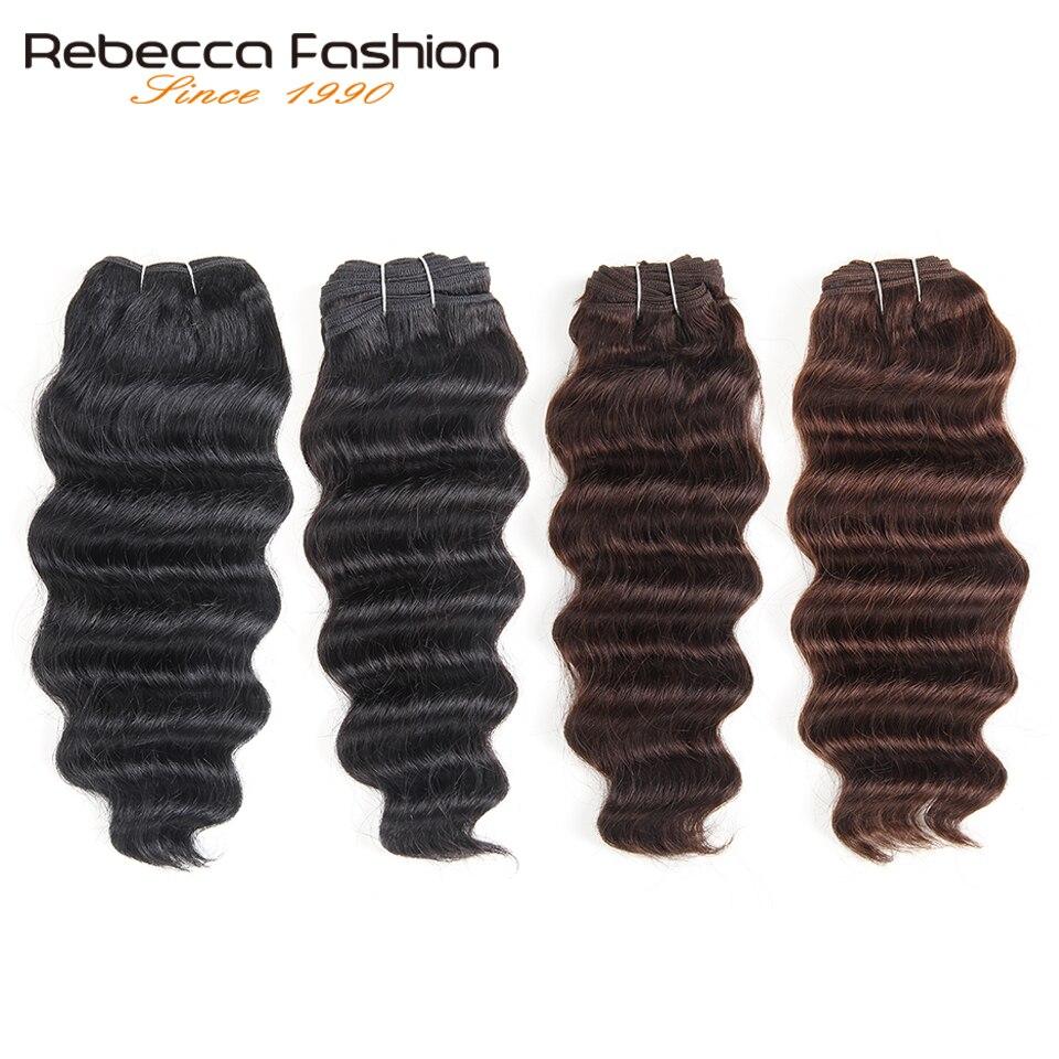 Rebecca Natural Hi Deep Wave Human Hair 1 Bundle Deals Brazilian Narural Deep Wa