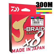 最高価格 300 メートルダイワ J BRAID グランド編組 PE ラインスーパーストロングジャパンモノフィラメント編組釣り糸卸売